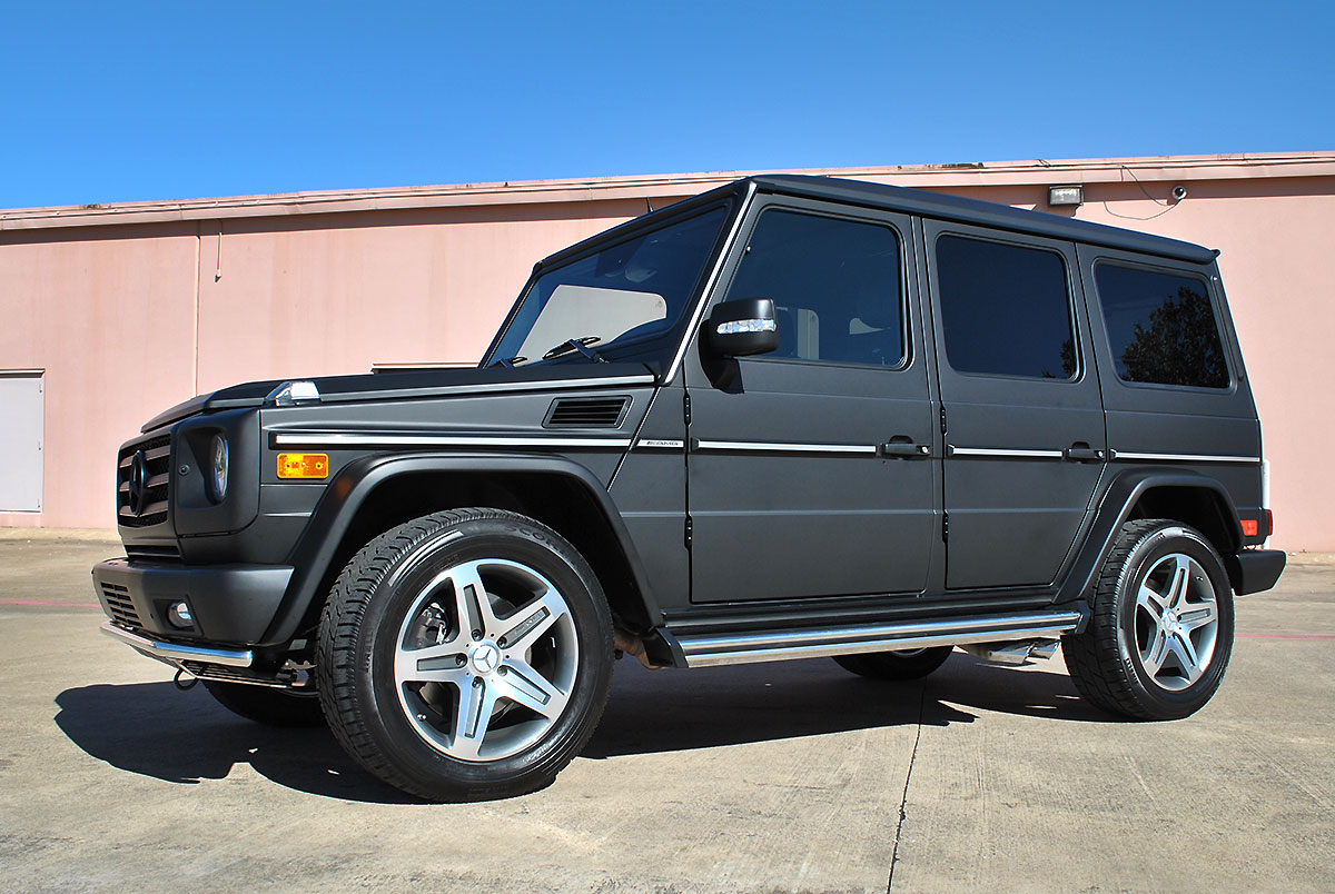 100 mercedes g wagon matte black mercedes g class for Mercedes benz g wagon black matte
