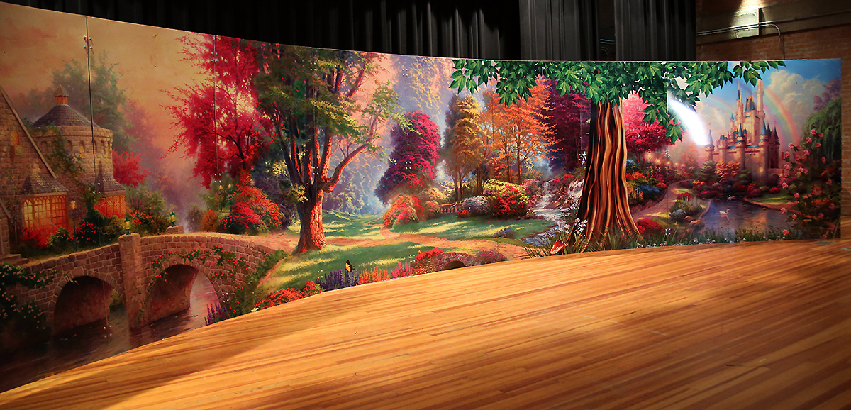 montessori academy backdrop for the play 2013