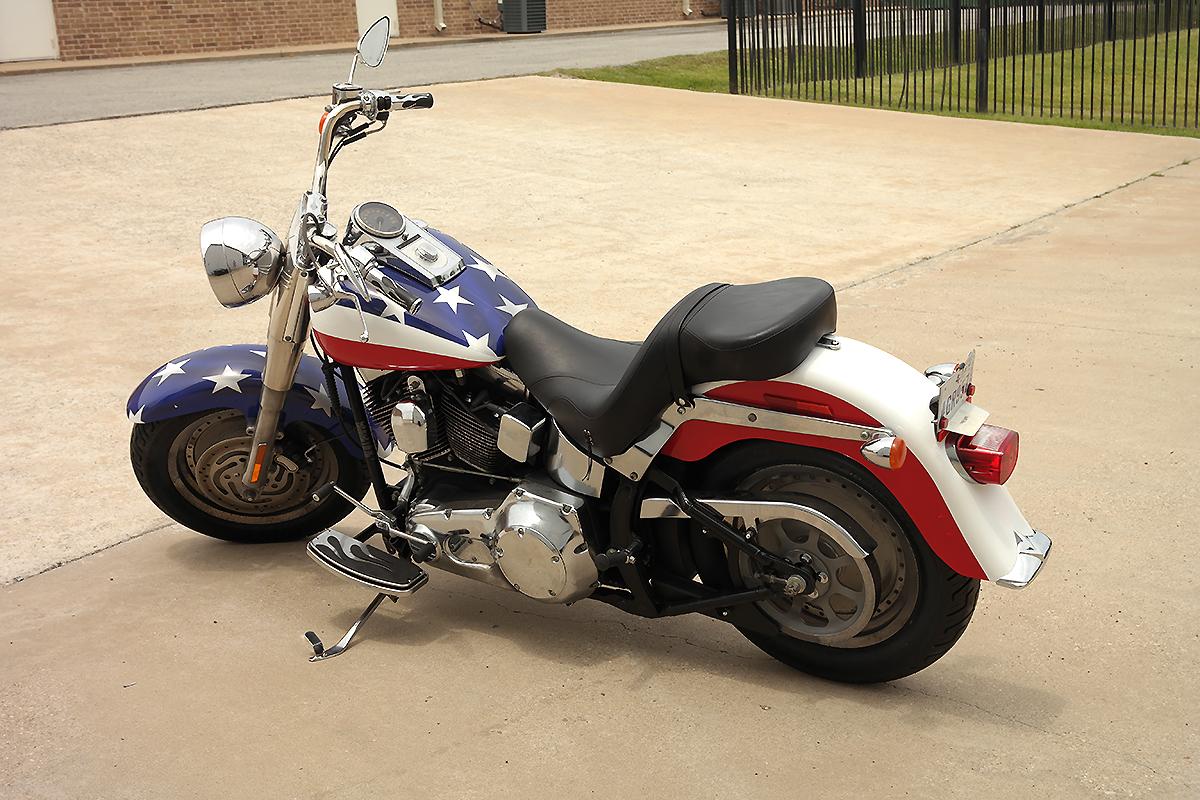 American Flag Motorcycle Wrap Car Wrap City
