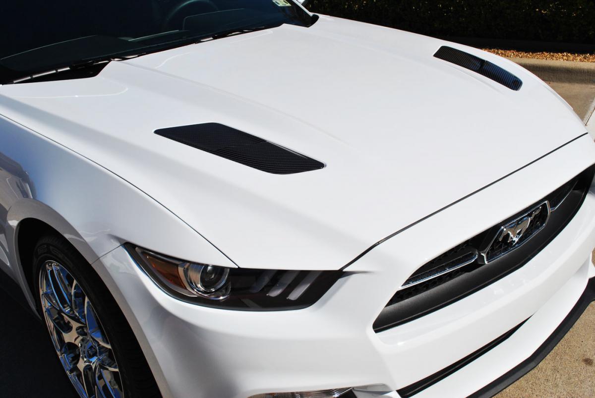 Vinyl Wrap Wheels >> Mustang Carbon Fiber Accents + Clear Wrap | Car Wrap City