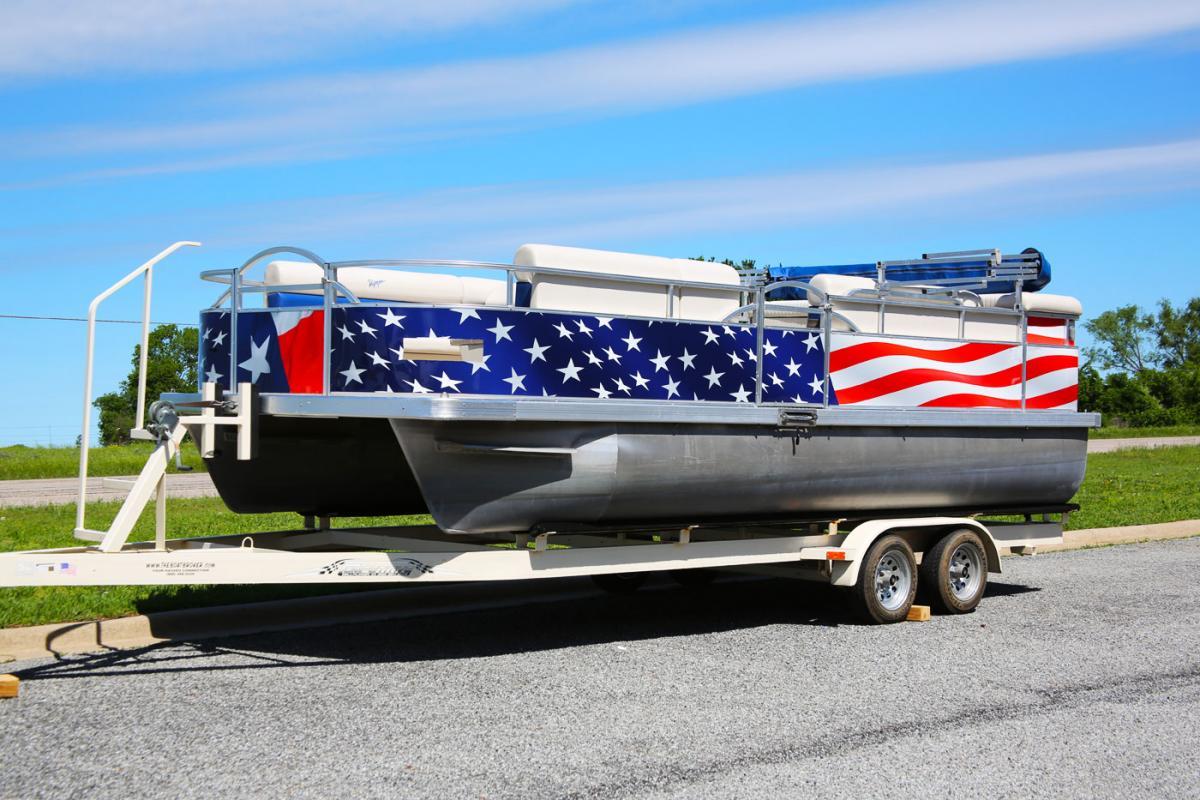 Old Glory Pontoon Boat Wrap | Car Wrap City