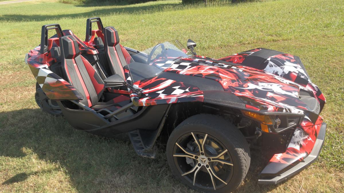 Custom Designed Polaris Slingshot Car Wrap City