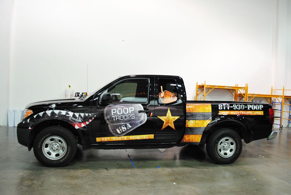Poop Troops Toyota Truck Fleet Car Wrap City