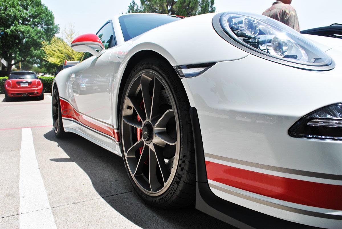 Gloss Red + Matte Grey Porsche 911 GT3 Stripes | Car Wrap City
