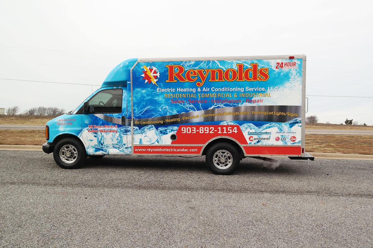 Full Box Truck Wrap For Reynolds Car Wrap City