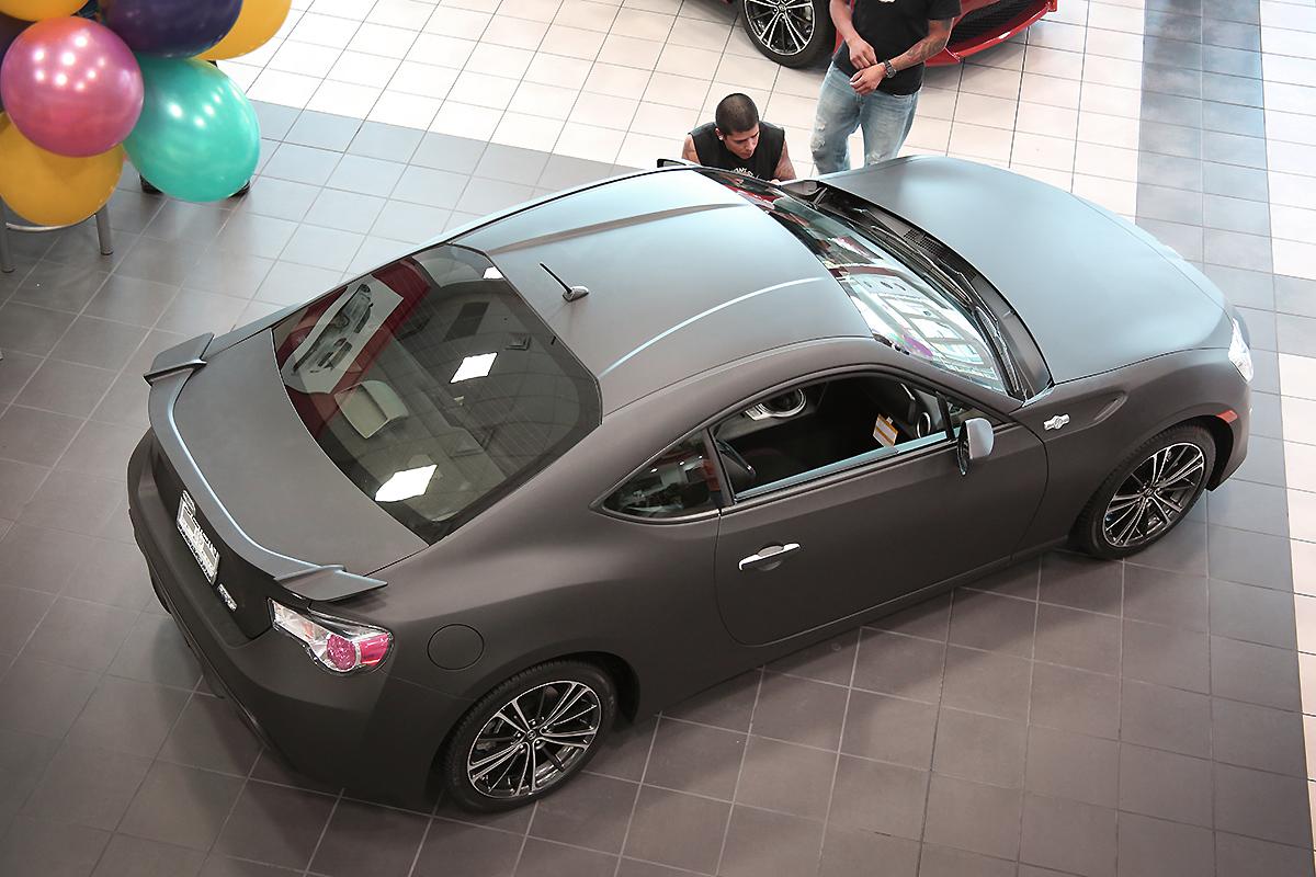 scion fr s black matte full wrap car wrap city
