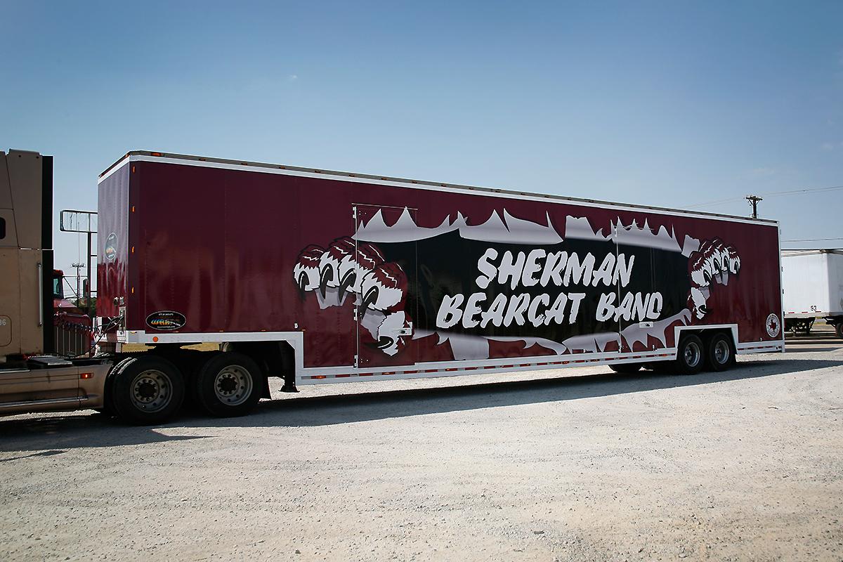 Sherman High School Band Trailer Full Wrap Car Wrap City
