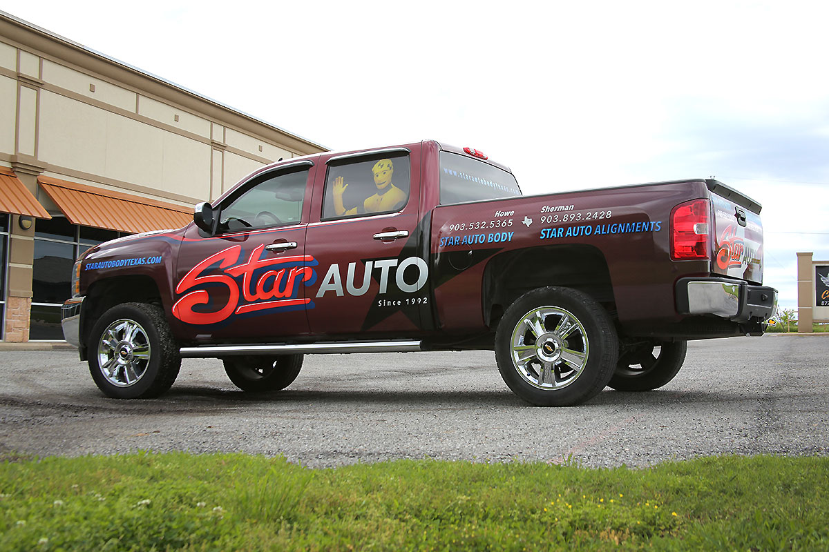 Star Auto Body Silverado Partial Wrap Car Wrap City