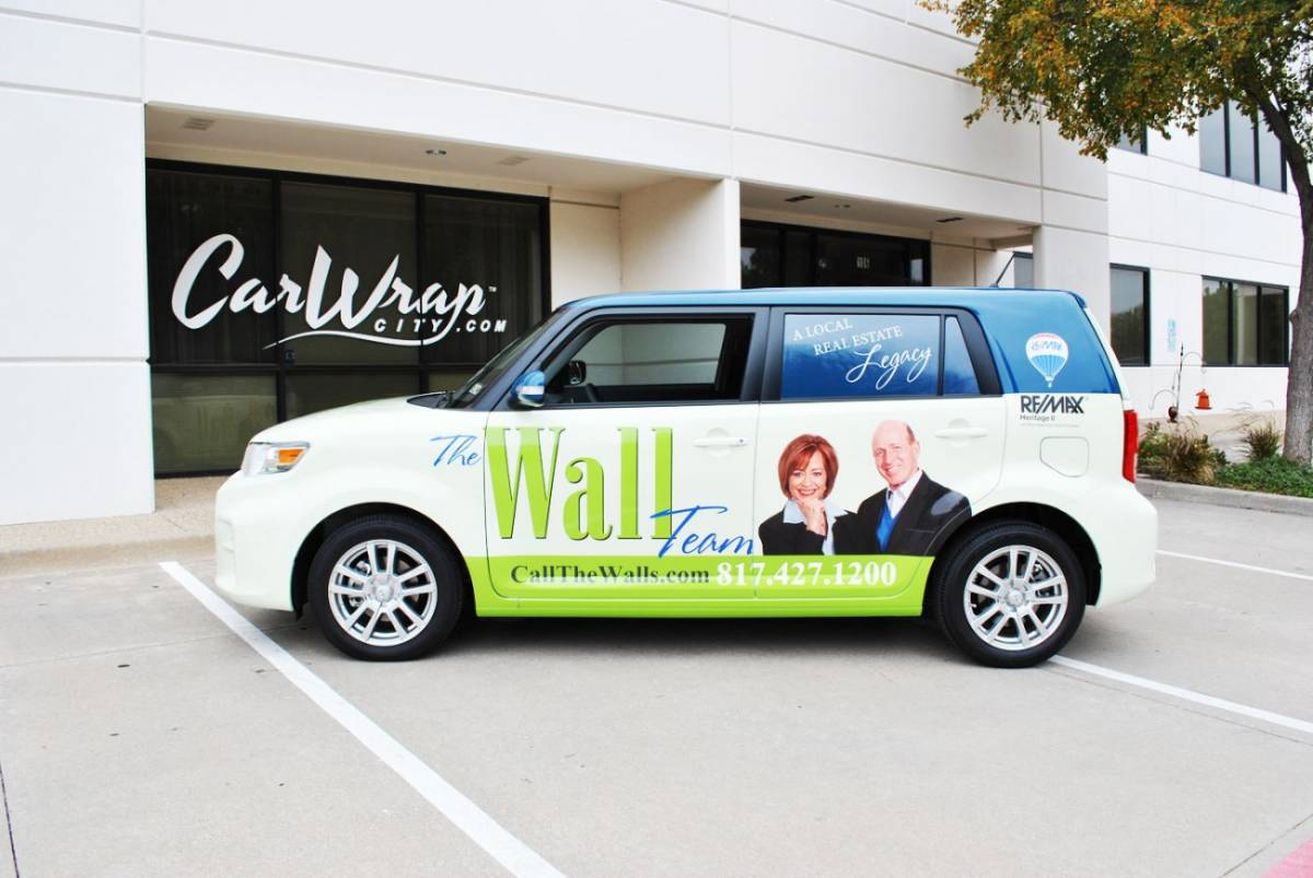 Car Real Estate: The Wall Team - Real Estate Vehicle Wrap