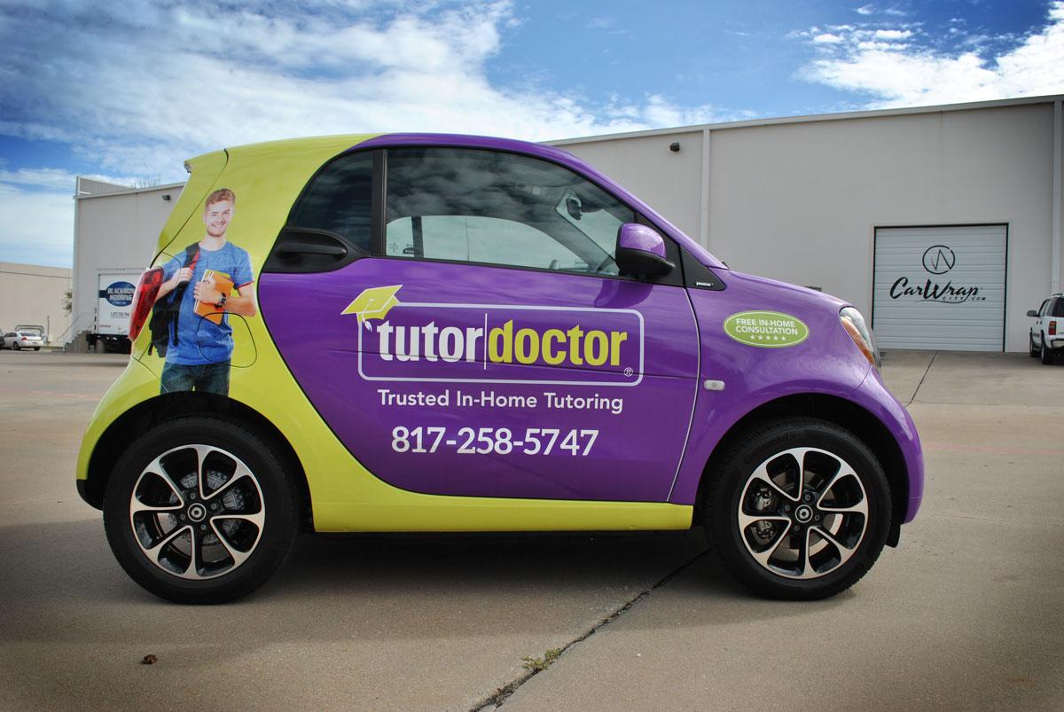 Full Print Smart Car Wrap For Tutor Doctor Car Wrap City