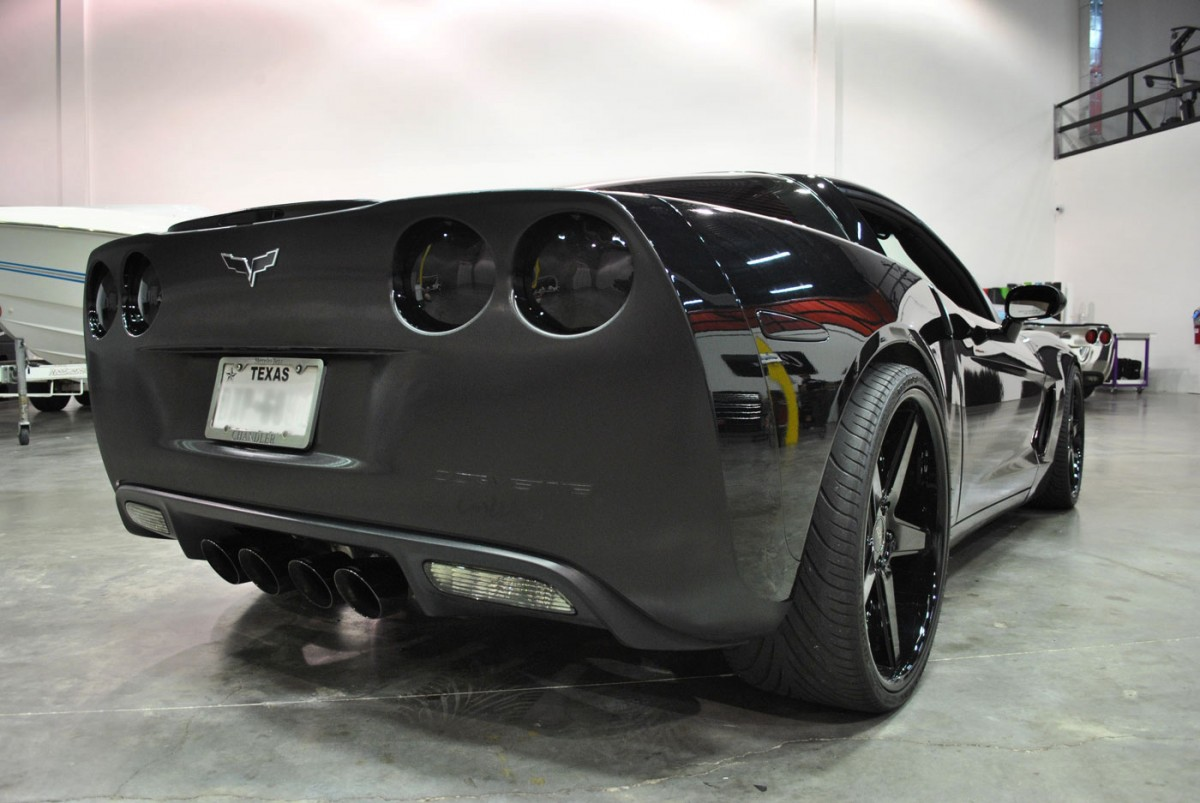 Corvette C6 Brushed Black Metallic Stripes Amp Wrap Accents