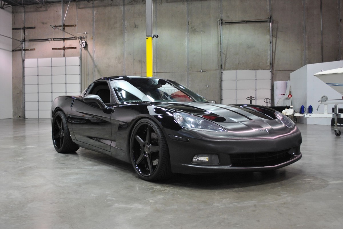 Corvette C6 Brushed Black Metallic Stripes Amp Wrap Accents