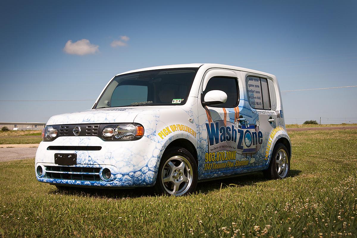Wash Zone Nissan Cube Full Wrap Car Wrap City