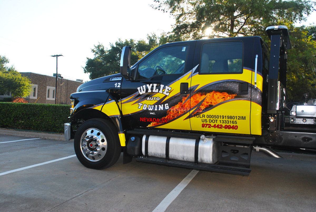 F650 Cab Wrap For Wylie Auto Towing Car Wrap City