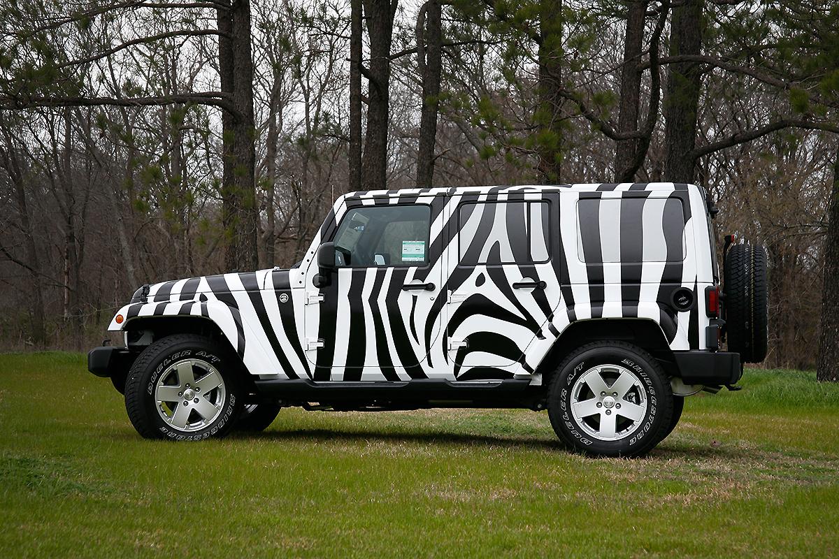 Zebra Jeep Full Wrap Car Wrap City