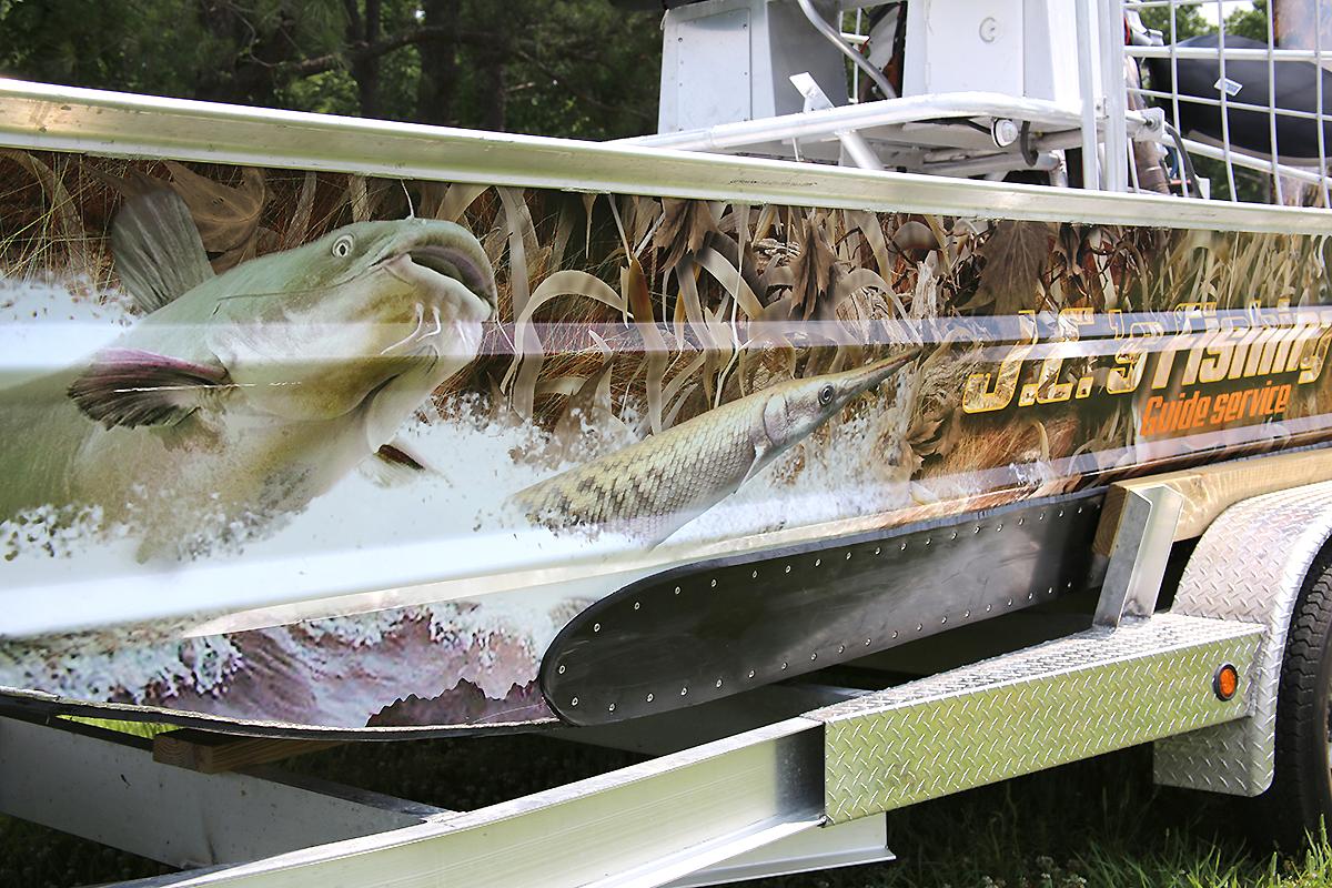 jc fishing air boat wrap car wrap city