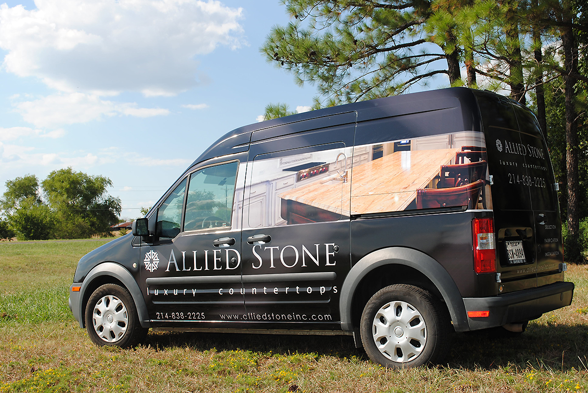 Ford Transit Home >> Allied Stone Ford Transit Full Wrap | Car Wrap City