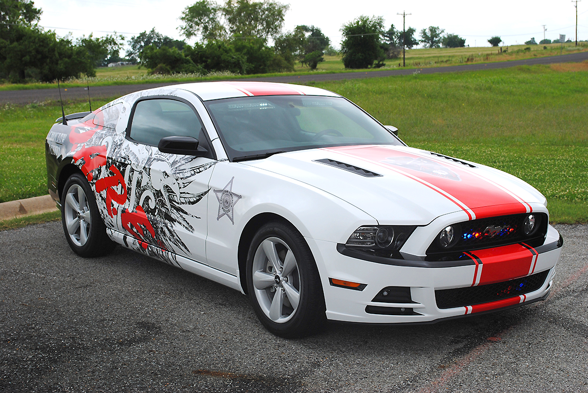 Choctaw D.A.R.E Mustang Wrap | Car Wrap City