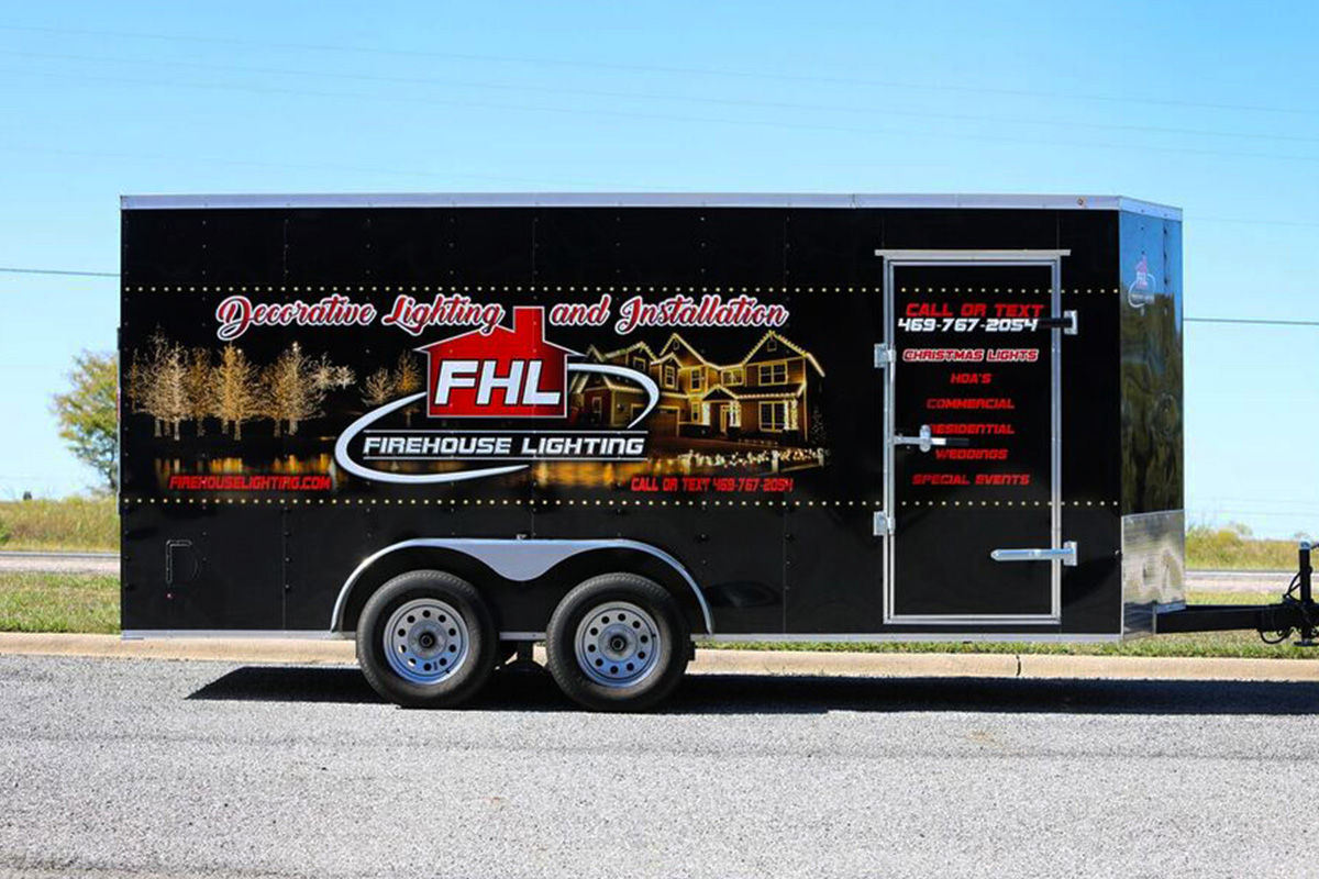 Firehouse Lighting 16 Enclosed Trailer Car Wrap City