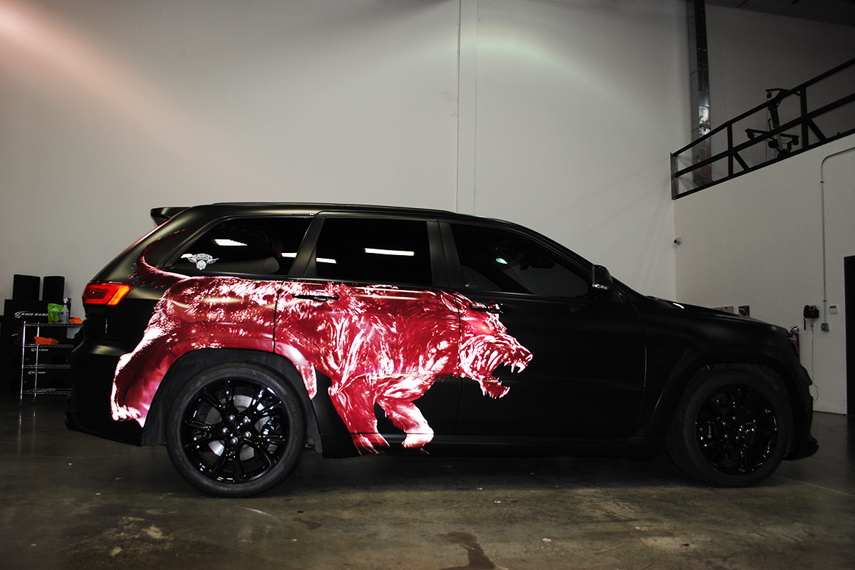 Hellhound Jeep Grand Cherokee Srt Car Wrap City