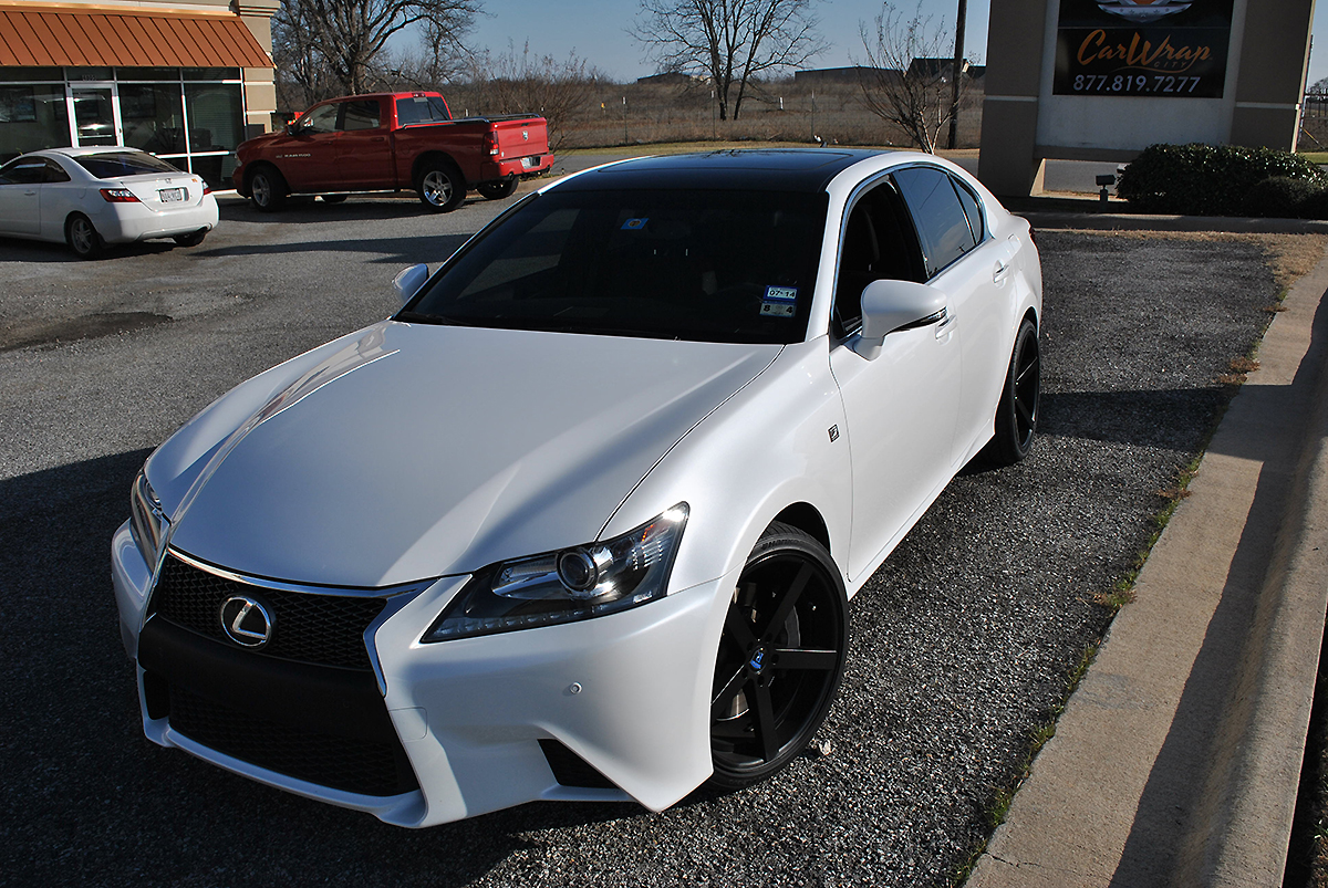 Lexus Gloss Black Roof Wrap Car Wrap City