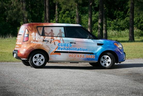 2 Cubes Rehabilitation Kia Soul full wrap