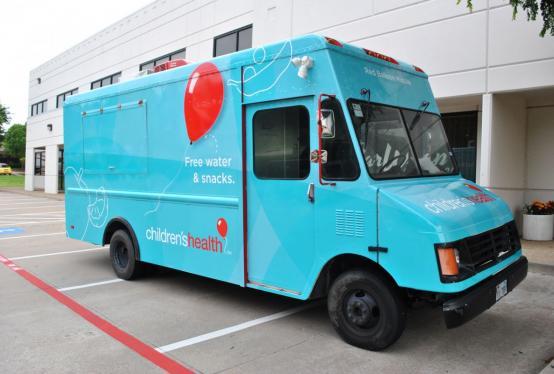 Children's Hospital - Temporary Food Truck Wrap | Car Wrap ...