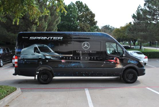 Mercedes Benz Of Plano Full Sprinter Wrap Car Wrap City