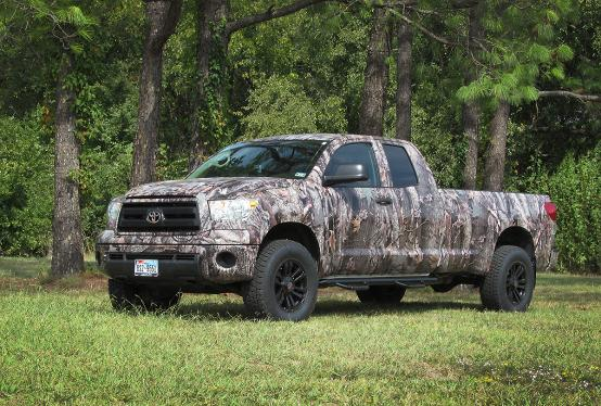 Full wrap in camo Toyota Pick up truck