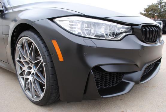 Bmw M3 Satin Black Color Change Wrap Car Wrap City