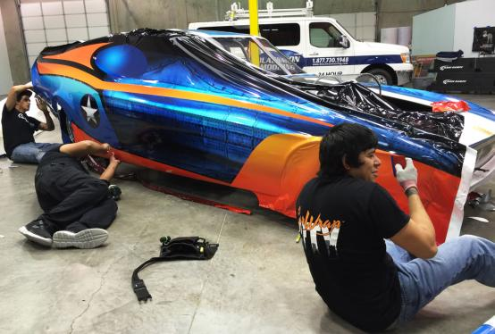 69 Ford Mustang Jet Engine Funny Car Wrap Car Wrap City