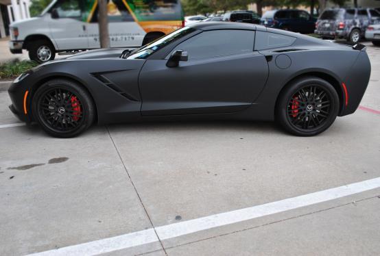 Matte Black + Gunmetal Stingray Color Change Wrap | Car