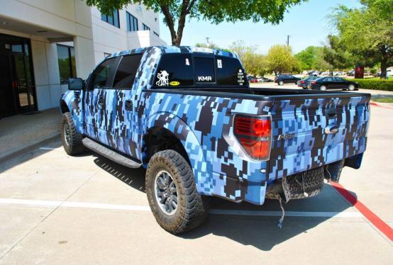 Texas Motorworx Raptor Digital Camo Truck Wrap Car Wrap City