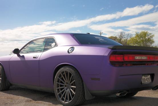 Challenger Purple Matte Metallic Color Change Wrap Car