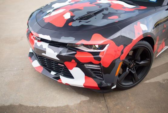 Camaro Urban Camo Wrap   Car Wrap City
