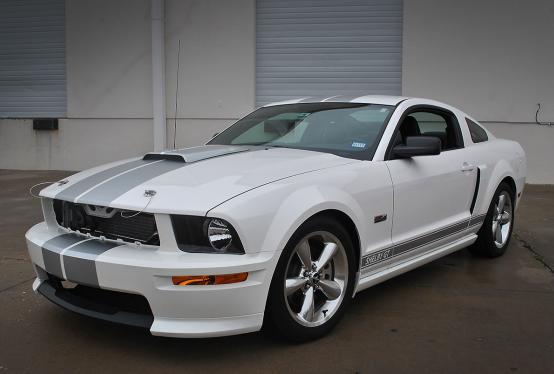 Matte Silver Metallic Mustang Stripes Car Wrap City